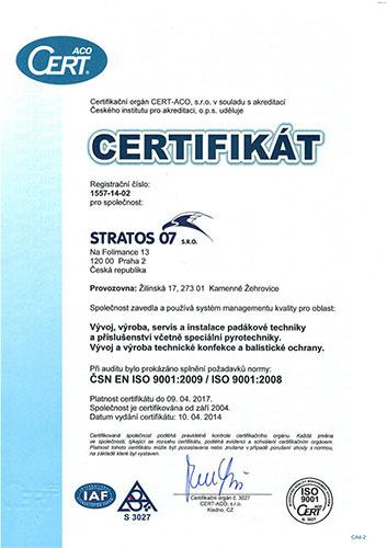 Certifikace systému managementu kvality ISO 9001