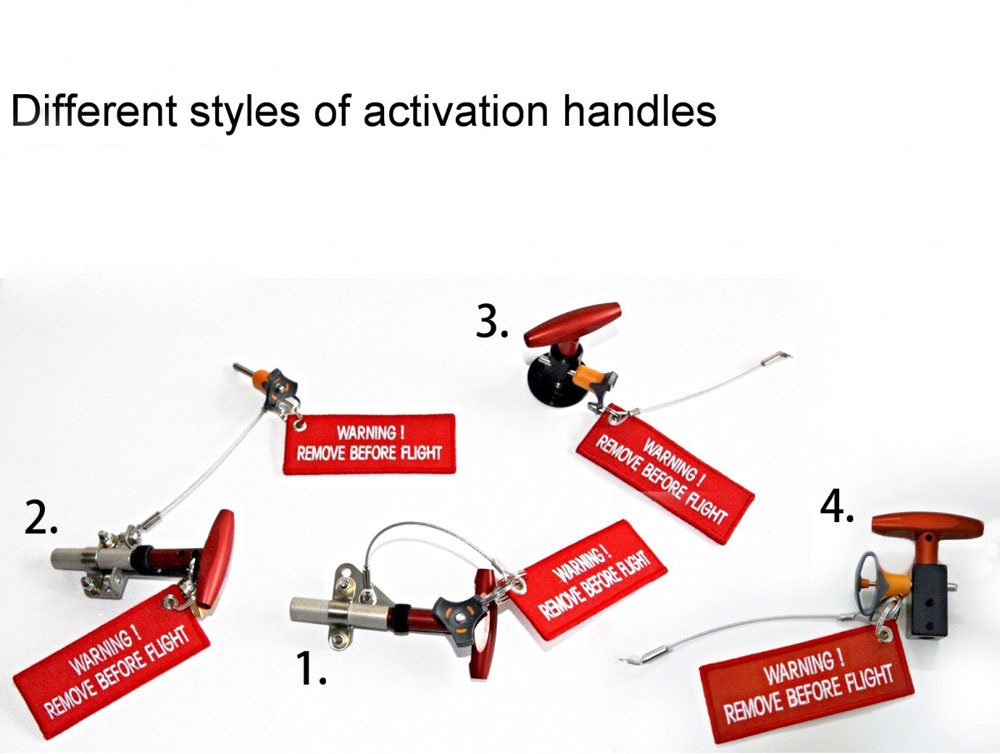 Different styles of activation handles
